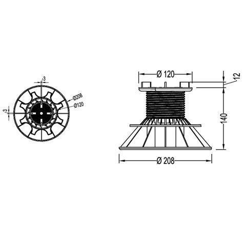 plot pour dalle plot pour dalle nivo h80 140mm plot pour dalles deck linea