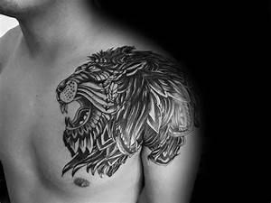 50 Lion Shoulder Tattoo Designs For Men - Masculine Ink Ideas