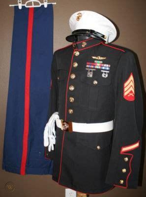 usmc recon marine corps nco dress blues uniform xl