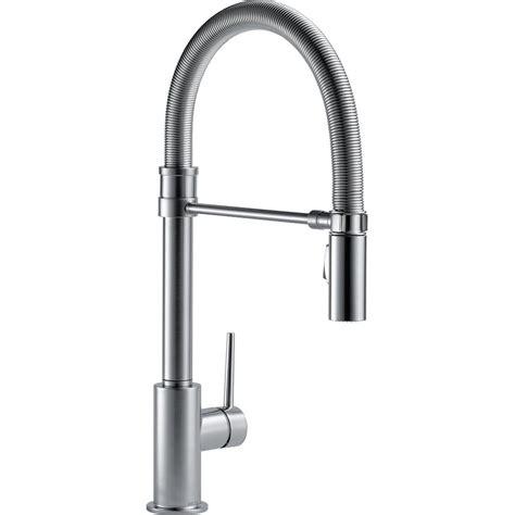 kitchen faucet spout delta trinsic single handle pull sprayer kitchen