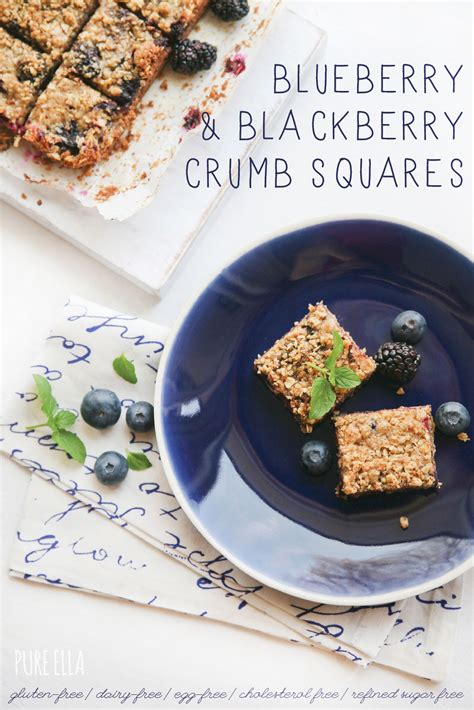 Blueberry & Blackberry Crumb Squares  Pure Ella