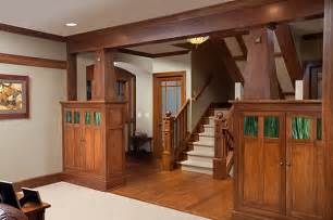 Craftsman Style Home Interiors Wooden Detailing In The Interior Of A Craftsman Home Decoist