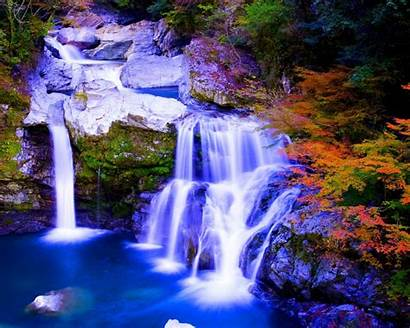 Nature Waterfalls Paradise Autumn Foreset Wallpapers13