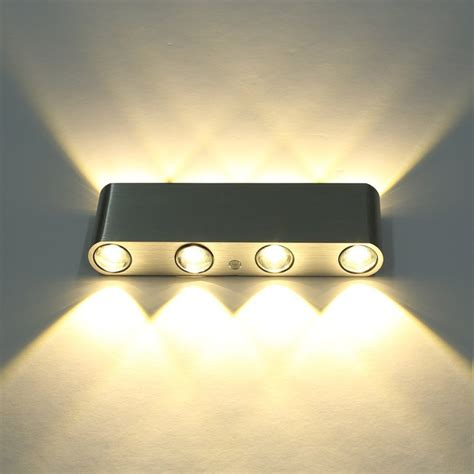 w led wall sconces light fixture hardwired up down light