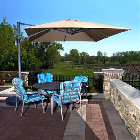 santorini cantilever umbrella side post patio umbrellas