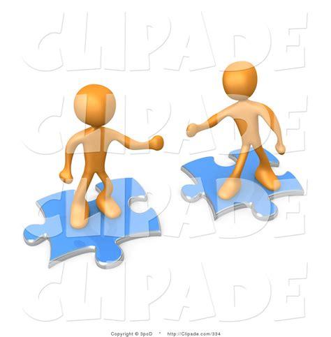 Teamwork Clip Two Puzzle Pieces Clip Www Pixshark Images