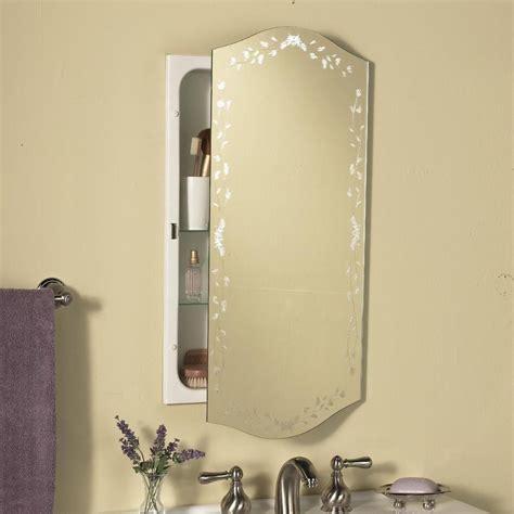 Recessed Mirror Cabinet Bathroom by Venetian Eclipse Polished Mirror Recessed Metal Bathroom