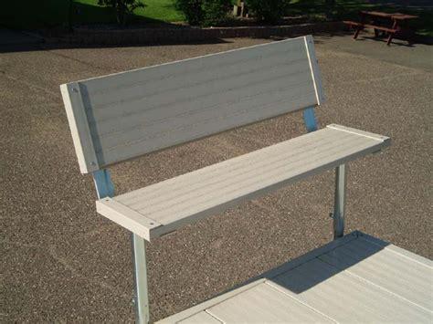 Aluminum Roll In Dock  Bench Kit, Bench Brackets W No