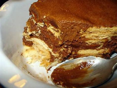 dessert minute sans cuisson recette de g 226 teau aux petits beurres et mousse au chocolat sans cuisson bolo de bolacha
