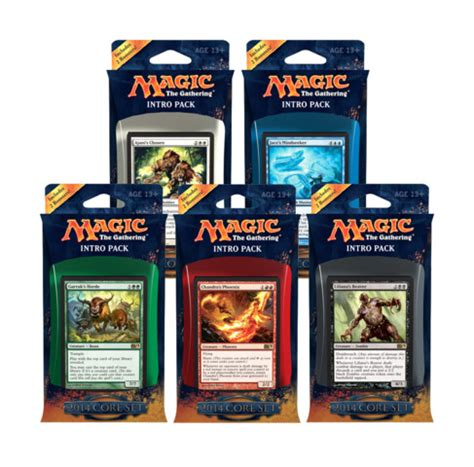 Mtg Intro Decks List by All 5 Magic 2014 M14 Intro Packs Magic Products