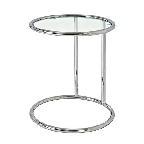 table bout de canapé en verre design bout de canapé rond acier chromé verre trempé hauteur 55cm
