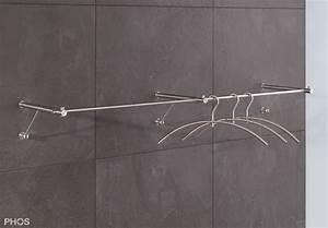 Kleiderstange Wand Holz : hochwertige wandgarderobe aus edelstahl ~ Michelbontemps.com Haus und Dekorationen