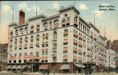 Hotels Cadillac Michigan by View Of Hotel Cadillac Detroit Mi Postcard