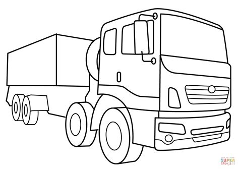 military supply vehicle coloring page  printable