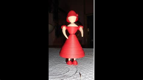 quilling  doll  red dress youtube