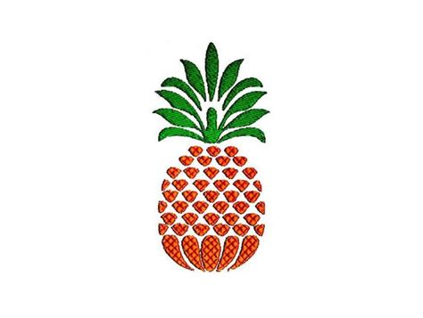 pineapple embroidery design  sizes instant