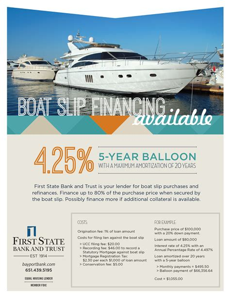 Financing Boat Purchase by Slip Financing Bayport Marina