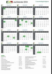 Kalender 18 19 : kalender 2018 jaarkalender belgie verlengde weekends ~ Jslefanu.com Haus und Dekorationen