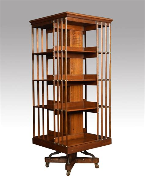 Walnut And Ash Fourtier Revolving Bookcase  Antiques Atlas