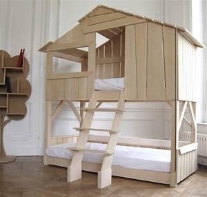 Lit Cabane Pour Enfant : lit cabane original 4 ~ Teatrodelosmanantiales.com Idées de Décoration