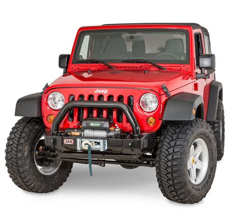 jeep winch bumper arb 3450400 front stubby winch bumper for 07 17 jeep