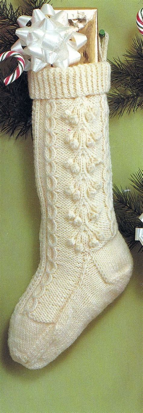 knit christmas fisherman stocking vintage knitting