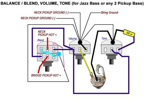 Guitar Blend Pot Wiring Diagram by Vbt Wiring Diagram Passive Fender Jazz Bass Talkbass