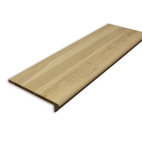 oak stair treads home depot stairtek 0 625 in x 11 5 in x 42 in unfinished white oak retread xbtwo1142 the home depot