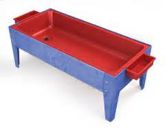 sensory table replacement tub manta ray sand and water activity center with lid red