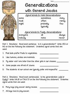 Generalizations Anchor Chart  Includes Freebie