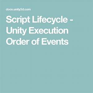 Script Lifecycle