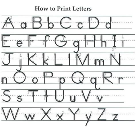 proper letter formation chart google search school