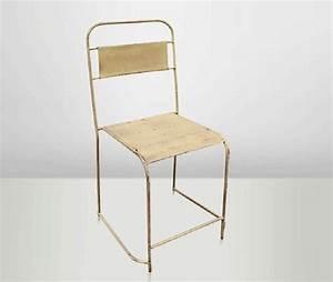 Cantine Metallique Pas Cher : chaises de cantine encastrables en vieux m tal couleur ~ Dailycaller-alerts.com Idées de Décoration