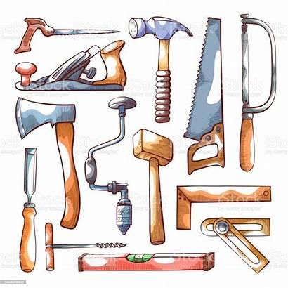 Tools Carpentry Herramientas Carpinteria Dibujos Drawn Woodworking