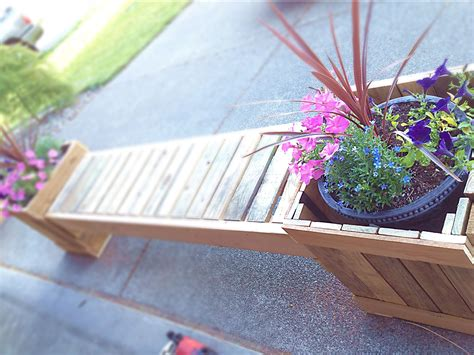 husbands diy planter bench   recycled pallets