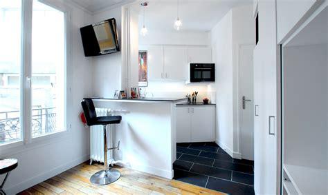 cuisine studio optimisation studio 17 m2 buttes chaumont agence avous