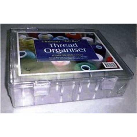 boite de rangement pour bobines de fil 30 cones standards dimensions 29 x 25 x 8 cm