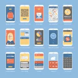ui design 15 mobile app ui design vector free vector graphic
