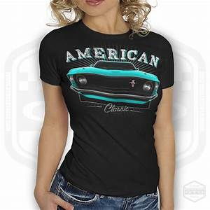 69 Ford Mustang Women's T-Shirt Black   S-2XL   Made In USA