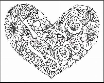Coloring Pages Girly Adult Printable Sheets Heart