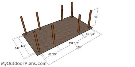 car carport  hip roof plans myoutdoorplans