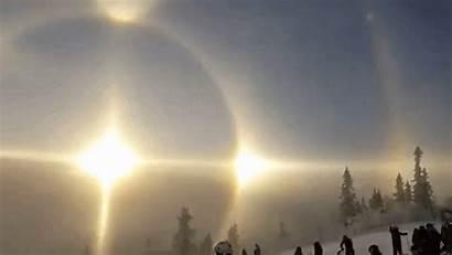 Halo Sun Sweden Mountain Ski Rare Stunning