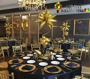 Black And Gold Event Decor Pictures to Pin on Pinterest