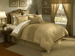 lantana 4 pc king comforter set gold
