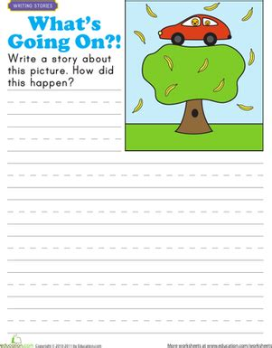 story starters what s going on worksheet education com