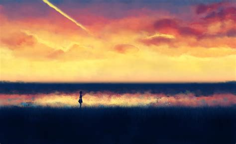 Lonely Anime Wallpaper - lonely anime silhouette wallpapers hd desktop and
