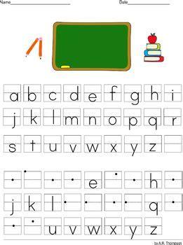lowercase alphabet practice sheets    grade