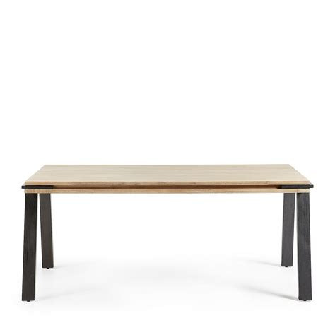 table a manger en bois massif table 224 manger design industriel bois massif et m 233 tal spike by drawer