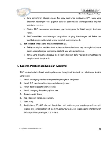 contoh surat pernyataan pindah jurusan buku pedoman akademik 2014 2015