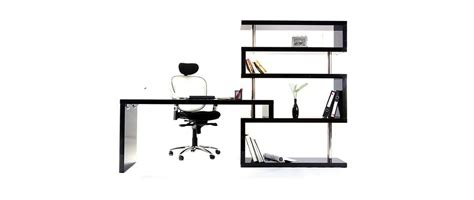 bureau d angle noir laqué bureau design noir laqué amovible t max miliboo